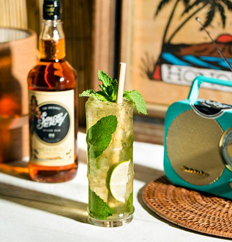 Sailor Jerry spiced mojito bottle