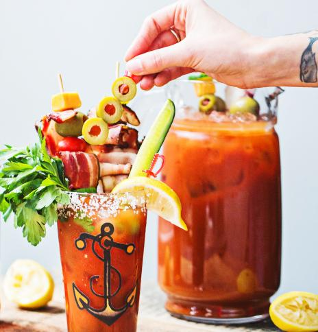 Spicy Bloody Mary with Sailor Jerry Rum