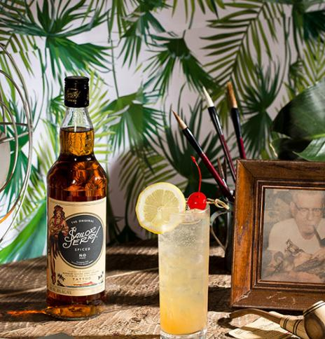 The Norman Collins - Sailor Jerry rum and lemon cocktail