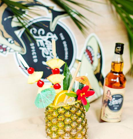 Sailor Jerry spiced rum pina colada