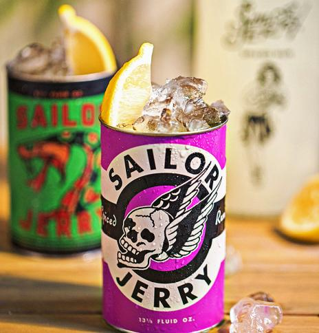 Sailor Jerry spiked lemonade cocktail