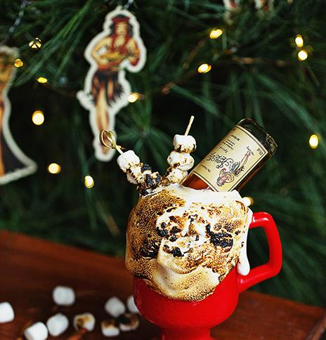 Spiked Sailor Jerry rum hot chocolate