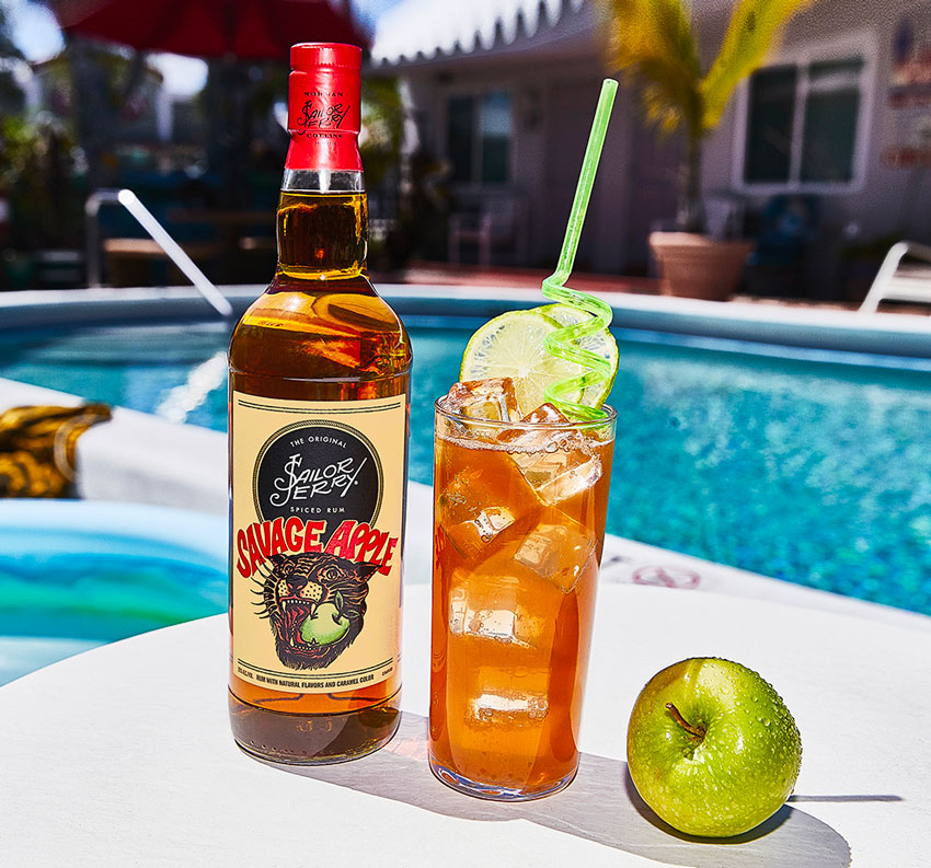 Sailor Jerry's Savage Apple Buck rum cocktail